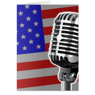 Stars And Stripes Microphone Card