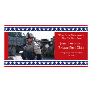 Stars And Stripes Military Announcement Card