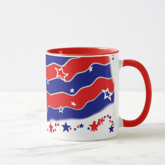 Stars and Stripes Monogrammed Mug