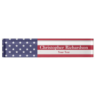 Stars and Stripes Nameplate