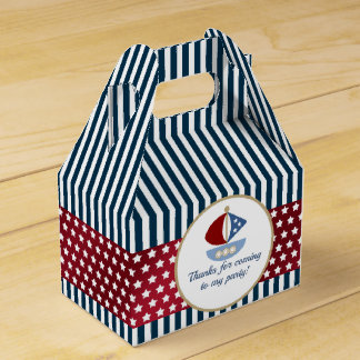 Stars and Stripes Nautical Birthday Party Favour Box