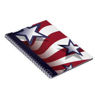 Stars and stripes notebook (customizable)