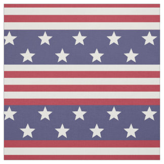 Stars and Stripes Patriotic American Flag USA Fabric