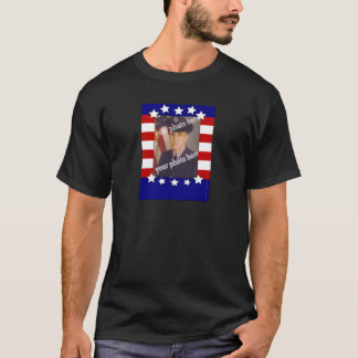 Stars and Stripes Patriotic Custom Photo Red White T-Shirt