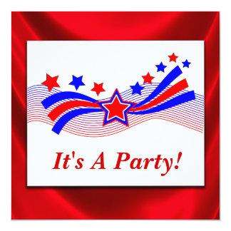 Stars And Stripes Patriotic Election Invitation