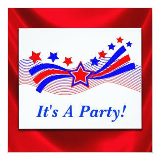 Stars And Stripes Patriotic Party Invitation