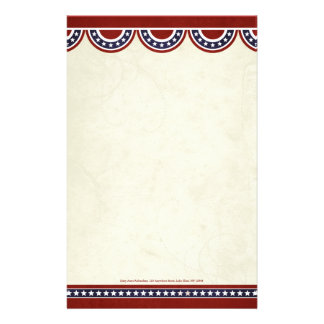 Stars and Stripes Patriotic Personal Stationery
