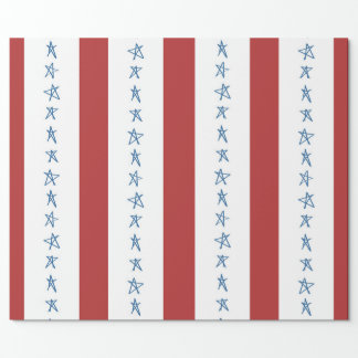 Stars and Stripes Patriotic Wrapping Paper