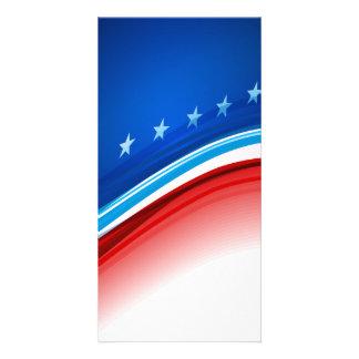 Stars and Stripes Patriotism Customized Photo Card