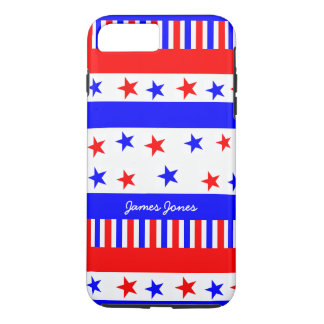 Stars and Stripes Pattern USA Flag Bright Colors iPhone 8 Plus/7 Plus Case