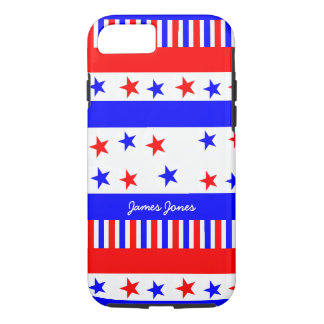 Stars and Stripes Pattern USA Flag Colors iPhone 8/7 Case