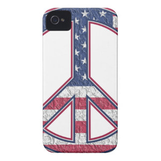 Stars And Stripes Peace Symbol iPhone 4 Case-Mate Cases