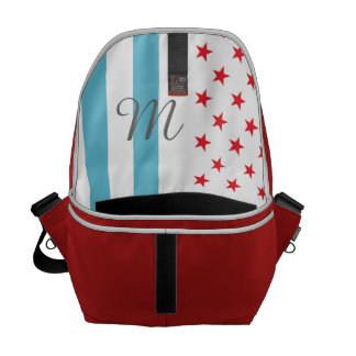 Stars and Stripes personalized monogram Commuter Bags