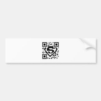 Stars and Stripes QR Code Bumper Sticker