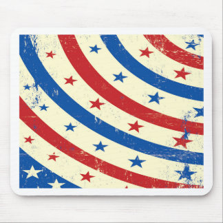 Stars and Stripes Red, White and Blue Mouse Pad
