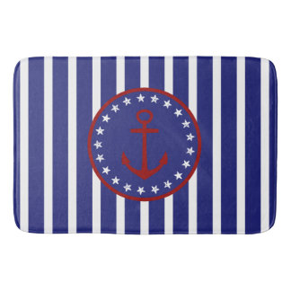 Stars and Stripes Red White Blue Anchor Bath Mats