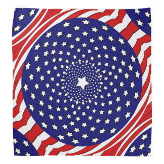 Stars and Stripes Red White Blue Fireworks Bandana