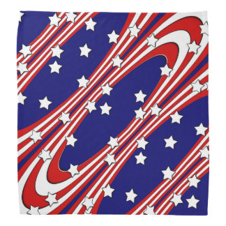 Stars and Stripes Red White Blue Patriotic Bandana