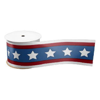 Stars and Stripes red white blue ribbon Satin Ribbon