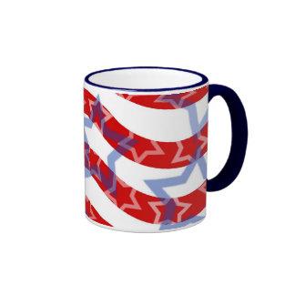 Stars-And-Stripes Ringer Coffee Mug