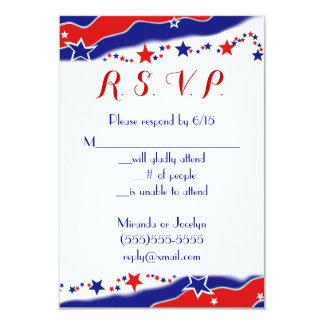 Stars and Stripes RSVP 9 Cm X 13 Cm Invitation Card