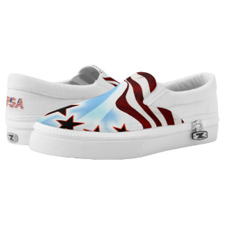 Stars and Stripes Slip On Shoes