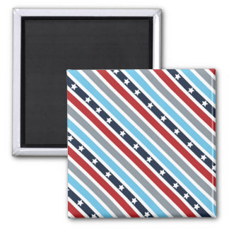 Stars and Stripes Square Magnet