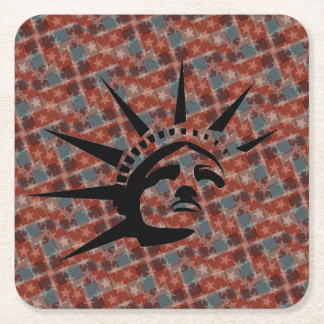 Stars and Stripes Square Paper Coaster