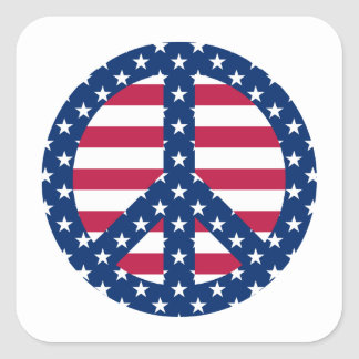 Stars and Stripes Square Sticker