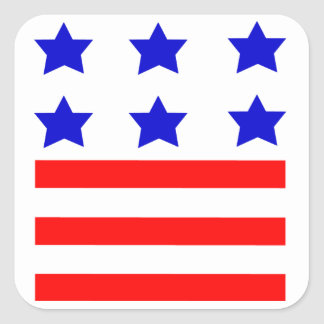 Stars and Stripes Square Stickers