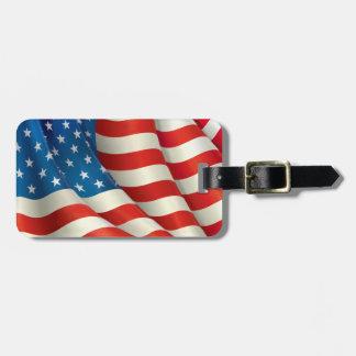 Stars and Stripes U.S. Flag Luggage Tag
