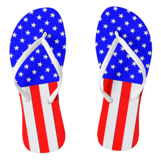Stars and Stripes USA Flip Flops