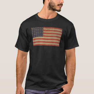 Stars and Stripes Vintage Patriotic American Flag T-Shirt