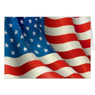Stars and Stripes Waving U.S. Flag Card