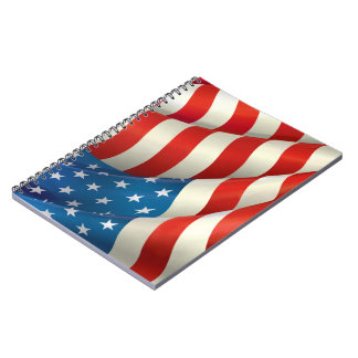 Stars and Stripes Waving U.S. Flag Notebook