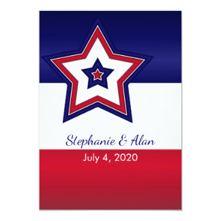 Stars and Stripes Wedding Invitations