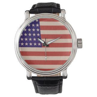 Stars and Stripes Wrist Watch