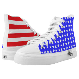 """""""Stars and Stripes"""" ZIPZ® High Tops Printed Shoes"""