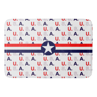 Stars,  Bars, and U.S.A. Bath Mats