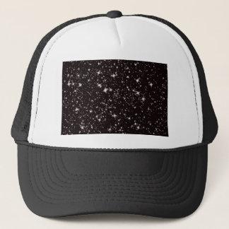 stars black night trucker hat