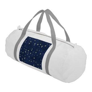 stars blue gym duffel bag