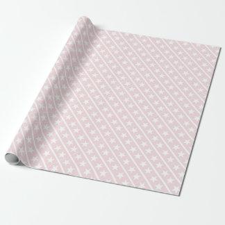 Stars Blush Rose Pink Modern Stylish Design Trendy Wrapping Paper