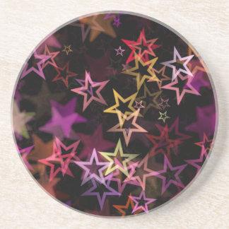 Stars Bright Night Design Beverage Coasters
