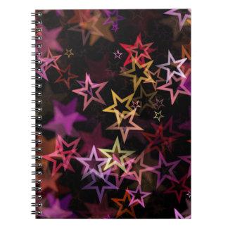 Stars Bright Night Design Note Book