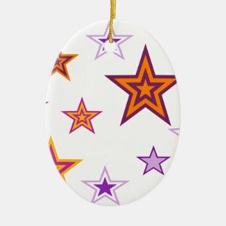 stars ceramic oval decoration