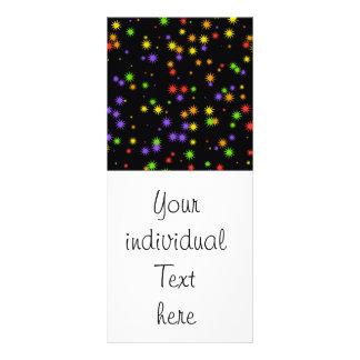 stars colorful customised rack card