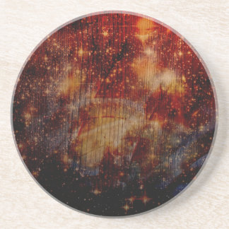 stars falling down abstract coasters