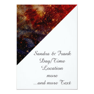 stars falling down,abstract 13 cm x 18 cm invitation card