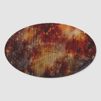stars falling down, abstract oval stickers