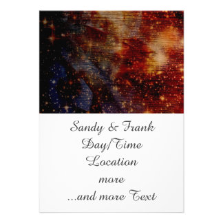stars falling down abstract personalized invites